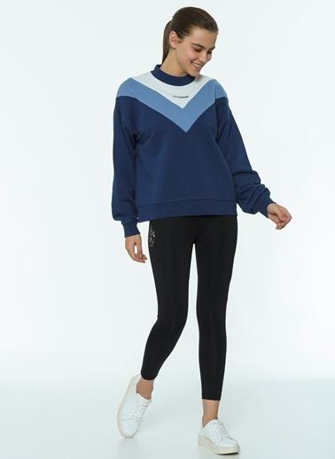 Hummel Kadın Sweatshirt Alesia 921051-9968 Mavi